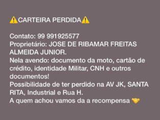 Carteira perdida do Jose de Ribamar Freitas Almeid