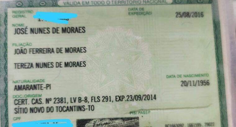 Documentos JOSE NUNES DE MORAES