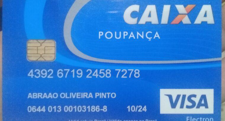 Cartão de Poupança CAIXA perdido