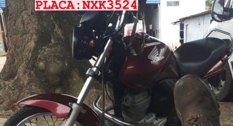 Moto Roubada Fan Vinho (Placa NXK3534)