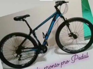 Bicicleta azul aro 29 de alumínio roubada