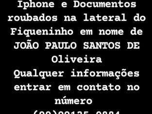 Iphone e documentos furtados