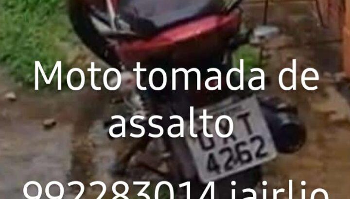 Moto roubada Titan CG 150, placa OXT 6242