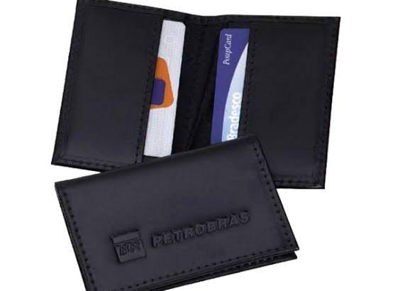 Porta cartão preto da credshop