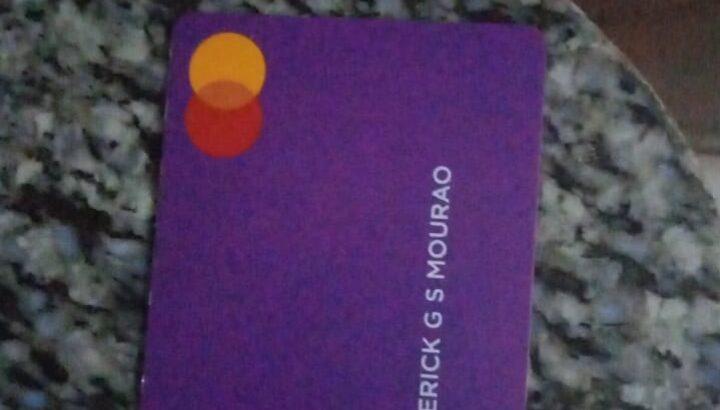 Cartão nubank encontrado