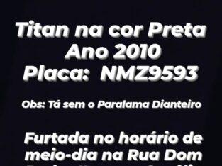 MOTO FURTADA, TITAN PRETA