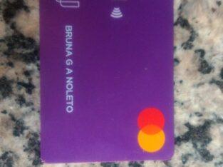 Cartão Nubank encontrado na BR-010